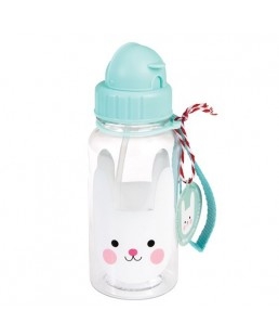 Rex London - Botella de Agua para niños con Pajita Bonnie the Bunny 500 ml Ref. 27907